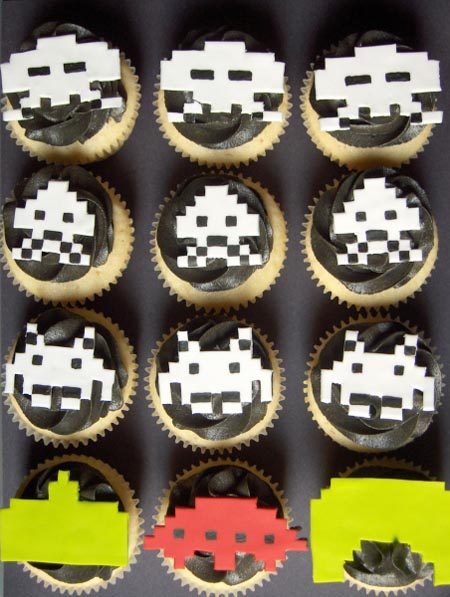 Amazing Space Invaders Cupcakes