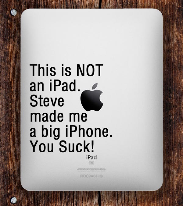 An iPad Decal Named This is NOT iPad