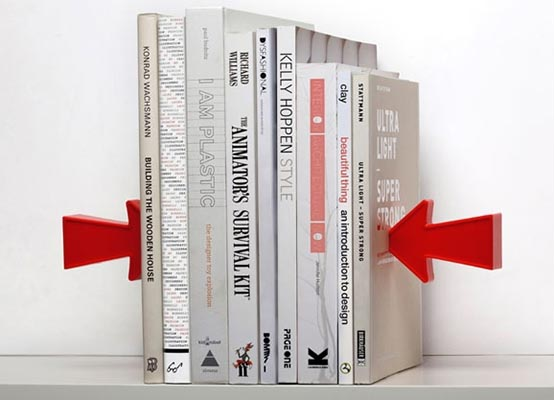 Arrow Magnetic Bookends Shoot through the Books