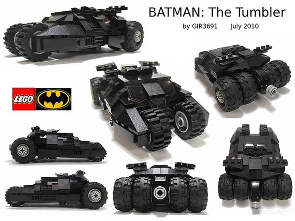 Batman Tumbler Batmobile Created with LEGO Bricks