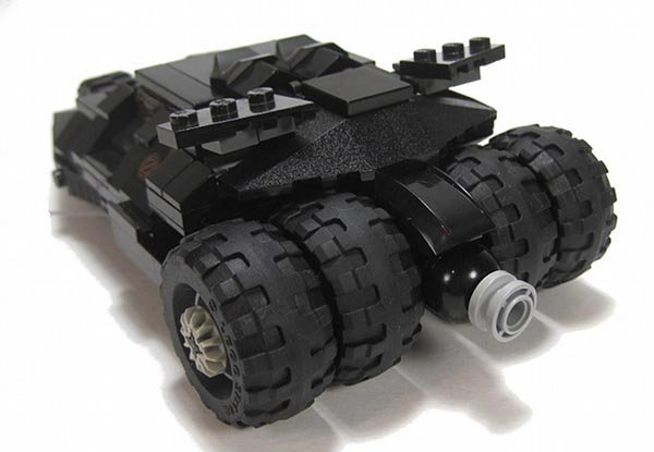 Batman Tumbler Batmobile Created with LEGO Bricks