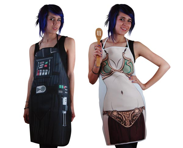 Darth Vader and Princess Leia Aprons