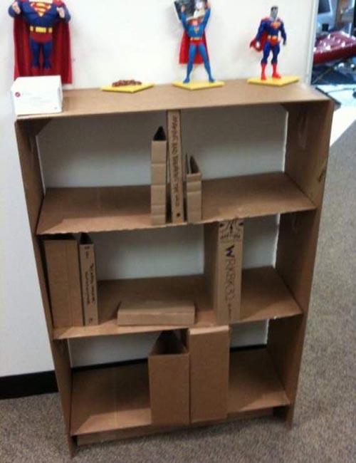 Eco-friendly Cardboard Office Shocked Leif