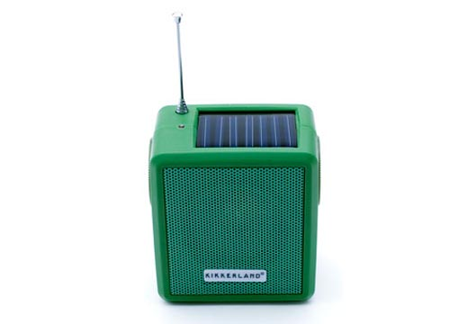 Eco-friendly Hand Crank and Solar Powered Radio
