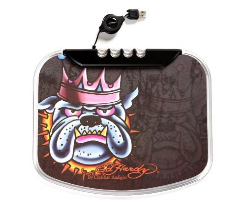 Ed Hardy King Dog Mouse Pad integrated USB Hub