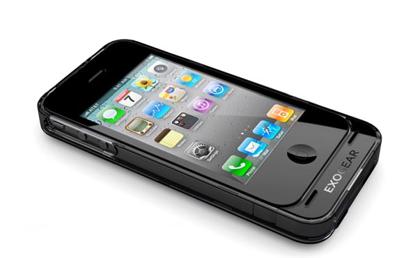 Exogear iPhone 4 Case Integrated Rechargeable Battery
