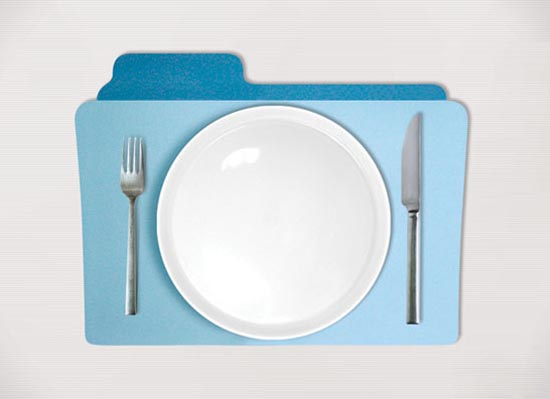 Folder Shaped Placemat