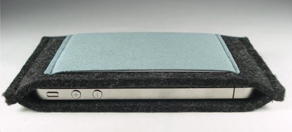 Handmade iPhone 4 Sleeve with Slim Pocket
