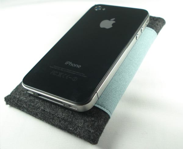 Handmade iPhone 4 Sleeve with Slim Pocket
