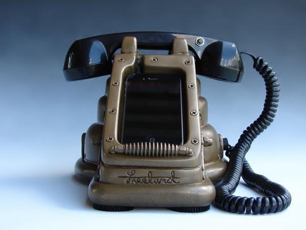 iRetrofone Steampunk iPhone Dock
