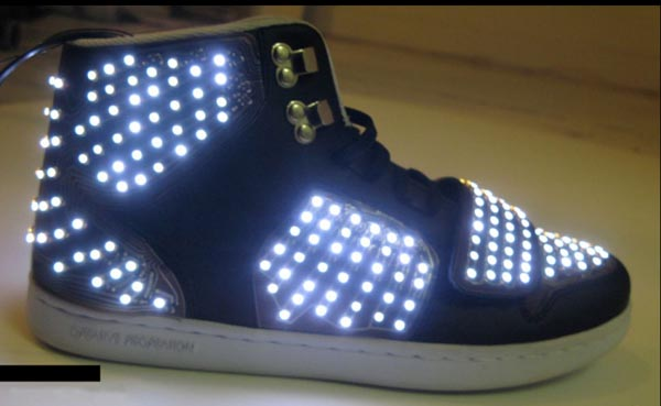 Sneakers with LED lights Illuminating Your Road