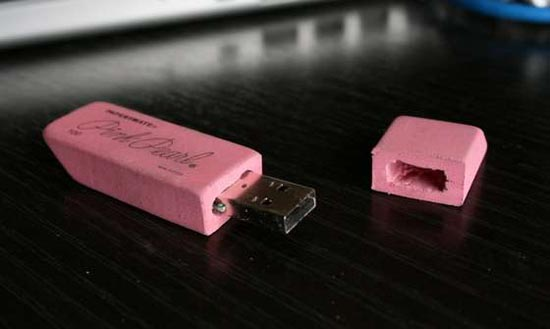 Make Eraser USB Flash Drive by Yourself