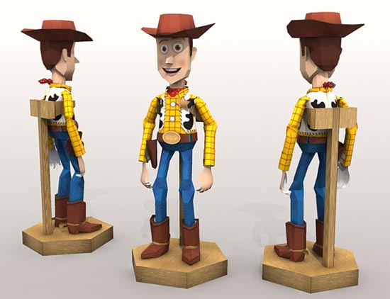 Make Toy Story Woody Paper Craft by Yourself
