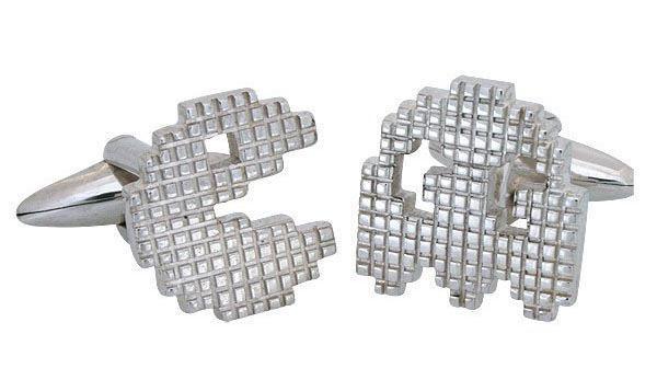 Pacman Sterling Silver Cufflinks