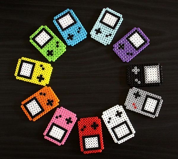 Perler Beads Game Boy Fridge Magnets