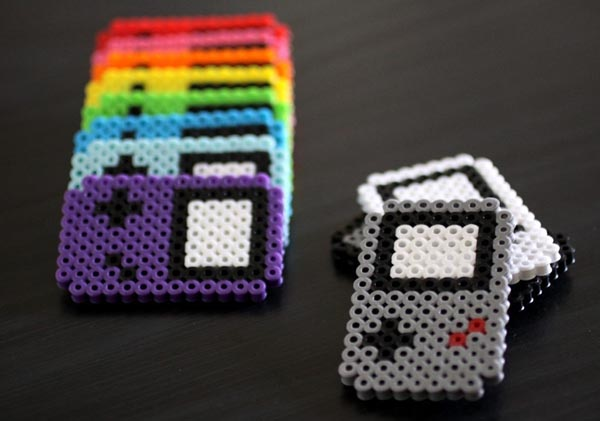 Perler Beads GameBoy Fridge Magnets