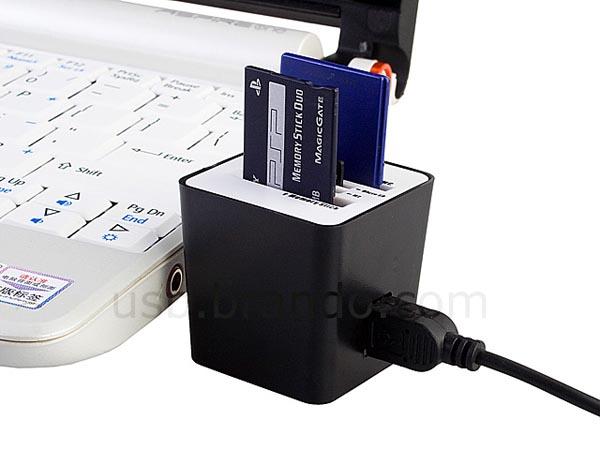 Practical Mini USB Card Reader Cube