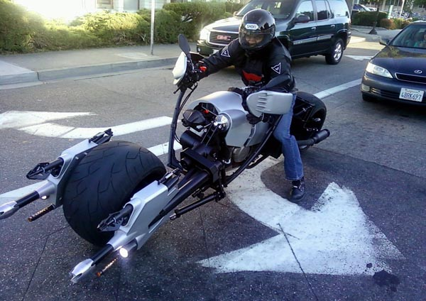 Real Batman Batpod Motorcycle on the Road