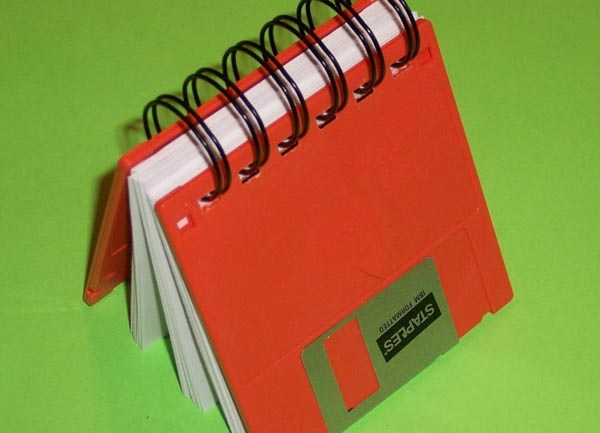 Recycled Floppy Disk Geek Gear Notebook