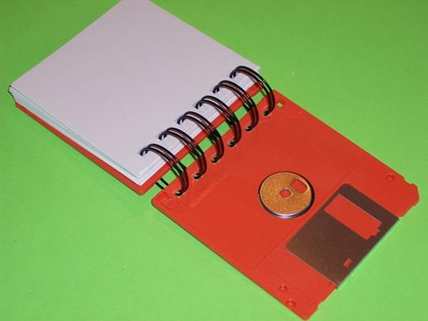 Recycled Floppy Disk Geek Gear Notebook