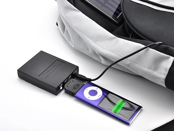 909e4346de Solar Battery Charger Backpack Integrated Speaker