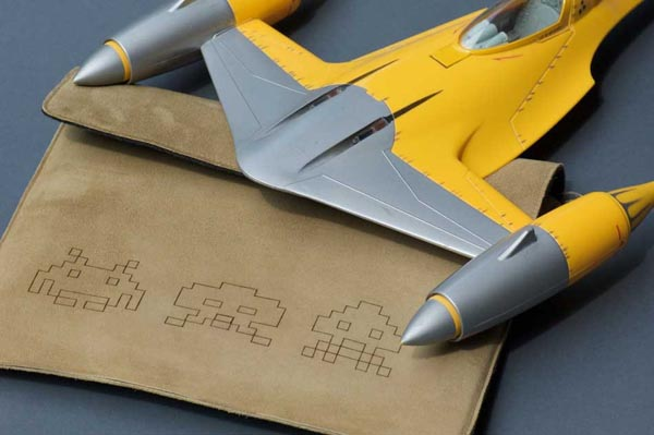Space Invaders iPad Leather Sleeve