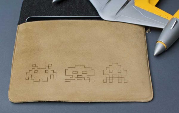 Space Invaders iPad Leather Sleeve