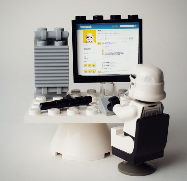 Stormtrooper also loves Facebook