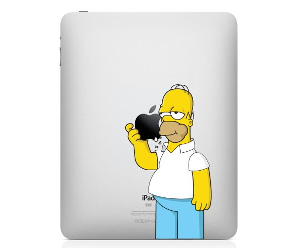 Two Colorful Homer Simpson iPad Decals