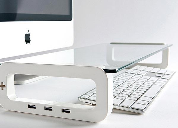 UBoard USB Keyboard Shelf Integrated USB Hub