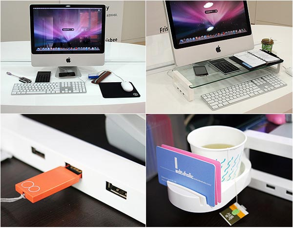 UBoard USB Keyboard Shelf Integrated USB Hub