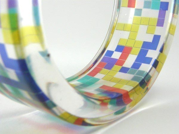 Yet Another Tetris Handmade Bangle Bracelet
