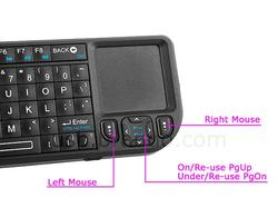 Rii Mini Wireless Bluetooth Keyboard with Touchpad