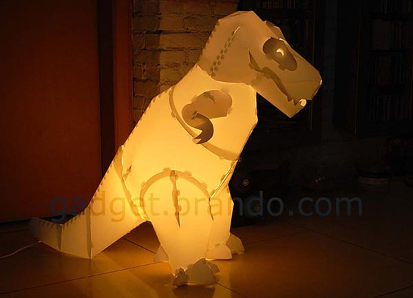 Assembled Giant Dinosaur Floor Lamp