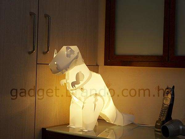 Assembled Giant Dinosaur Floor Lamp Gadgetsin