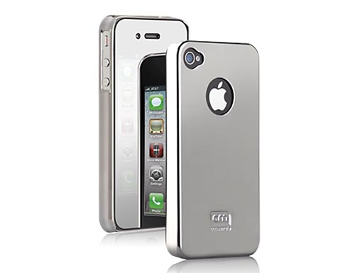 Case-Mate Chrome iPhone 4 Case with Mirror Screen Protector