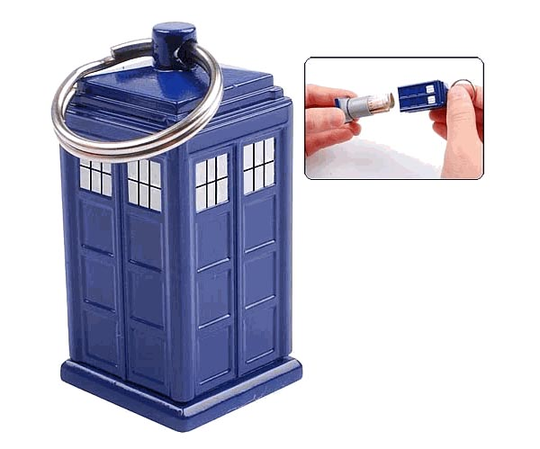 Doctor Who Tardis Key Chain Holding Your Change