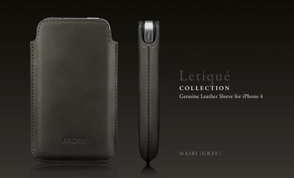 Genuine iPhone 4 Leather Sleeve by More-Thing