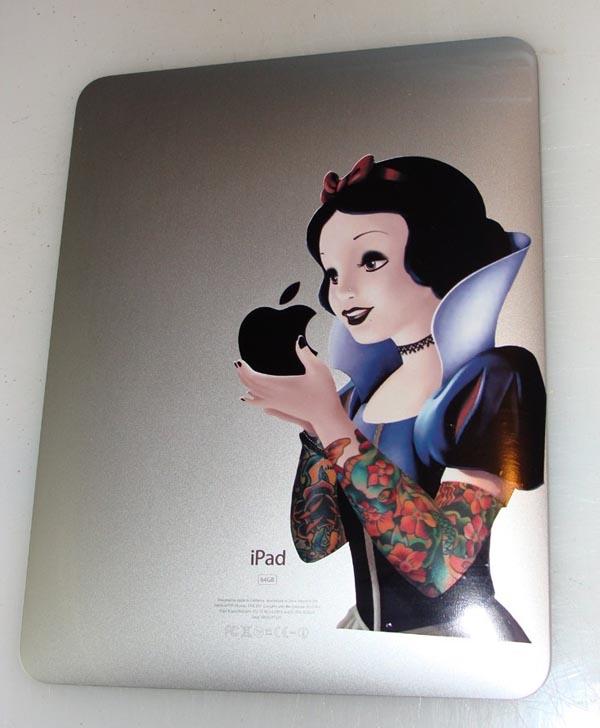 Goth Snow White iPad Decal
