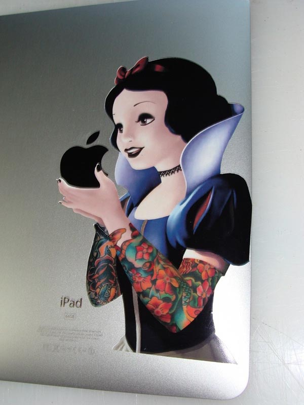 Goth Snow White iPad Decal