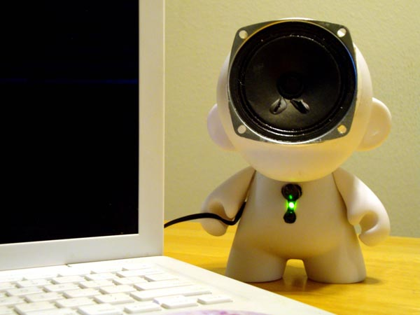 Handmade Kidrobot Munny Doll Speaker