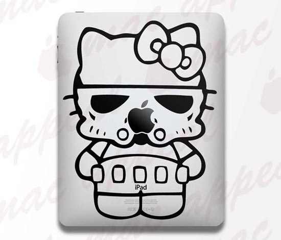 Hello Kitty Stormtrooper iPad Decal