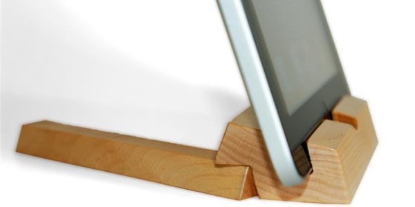 iEcostand Wooden Stand for iPad, iPhone, Kindle, and More