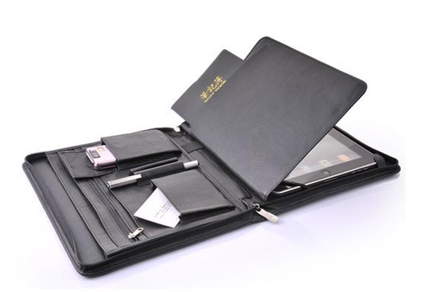 iPad Leather Case with Enough Pockets