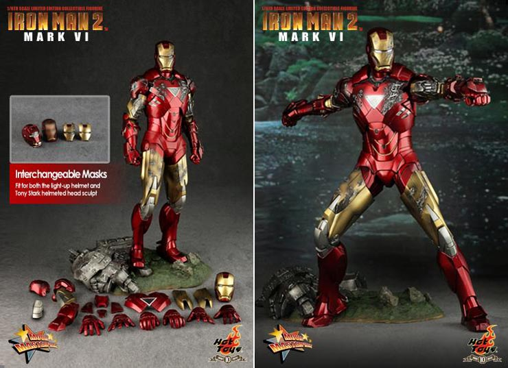 hot toy iron man 2 mark vi collectible figure limited
