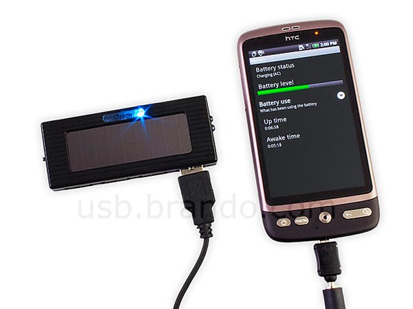 Portable Solar Charger Integrated 4-Port USB Hub
