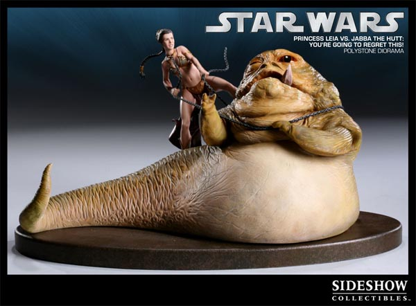 Princess Leia VS Jabba Collectible Statue Limited Edition