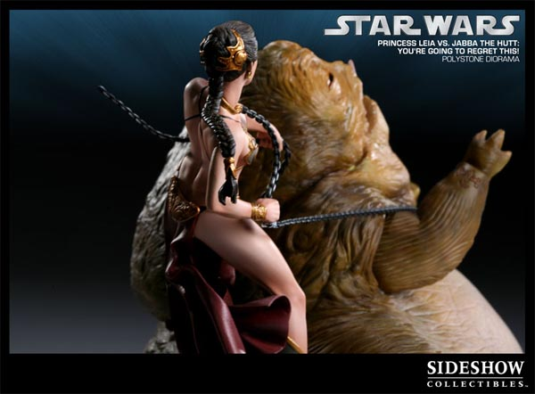 Princess Leia VS Jabba Collectible Statue Limited Edition ...