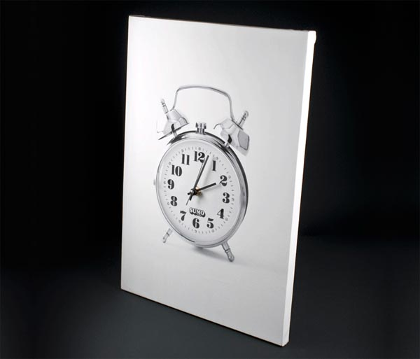 Retro Canvas Print Alarm Clock