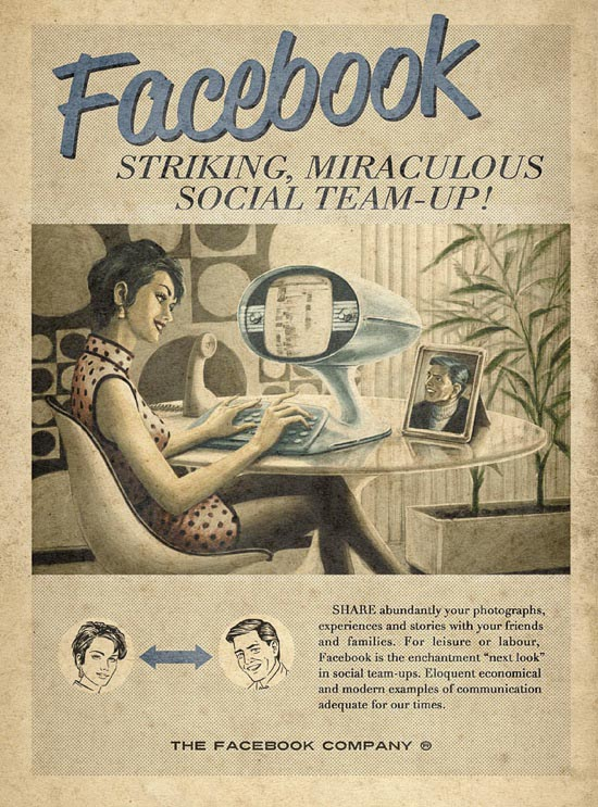 retro facebook ad